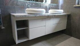 szafka łazienkowa na wymiar z dwoma umywalkami wandpark